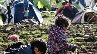 Refugees situation in Idomeni, Greece, at the border with FYROM