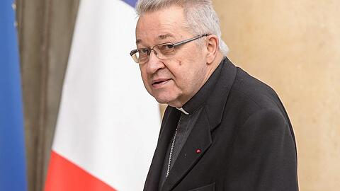 French president meets the representatives of religions at Elysee