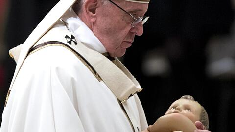 Pope Francis delivers a Christmas Mass at St. Peter's Basilica