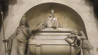 Florence monument to Dante Alighieri in Santa Croce Church Giacomo Leopardi was inspired by it to