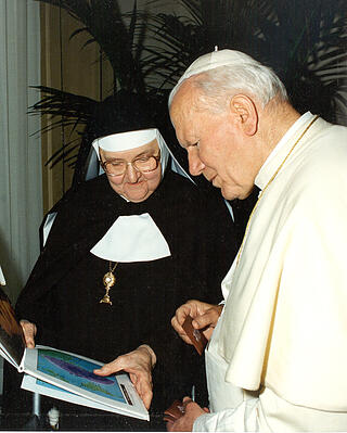 Johannes Paul II und Mother Angelica