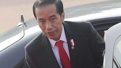 The President of Indonesia visits India