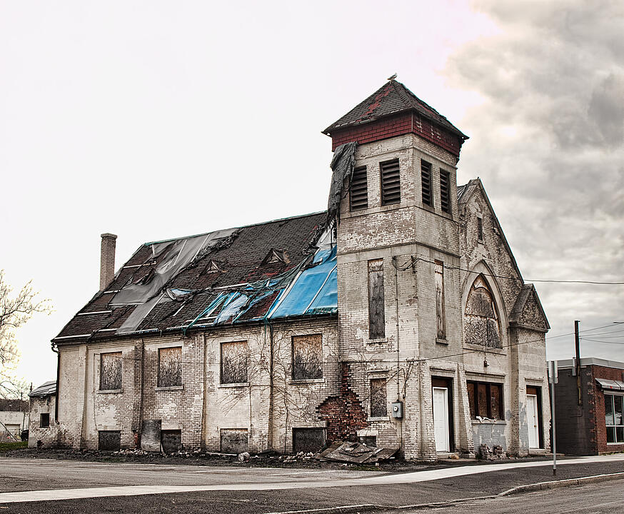 old church in ruins