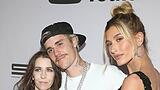 WESTWOOD, CA - JANUARY 27: Pattie Mallette, Justin Bieber, Hailey Bieber, at the Justin Bieber: Seasons Premiere at the