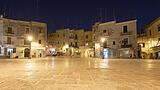 Traditional architecture of the old town of Bari in the Evening, Italy